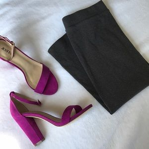 H&M Charcoal Gray Ribbed Pencil Skirt